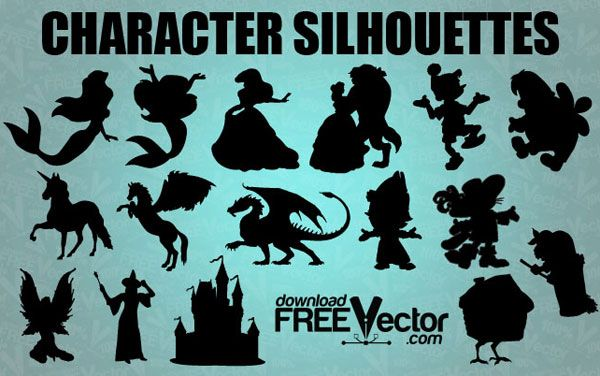 Vector Fairytale Silhouettes | Download Free Vector Graphic Designs | 123FreeVectors