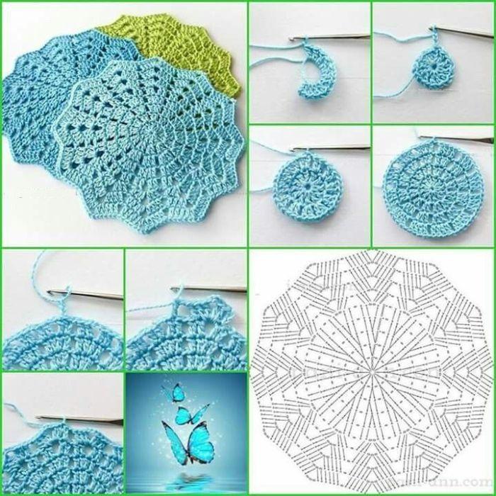 Guardanapo De Croche Passo A Passo Com Grafico Artesanato Passo A Passo Guardanapo De Croche Sousplat Croche Fazer Croche