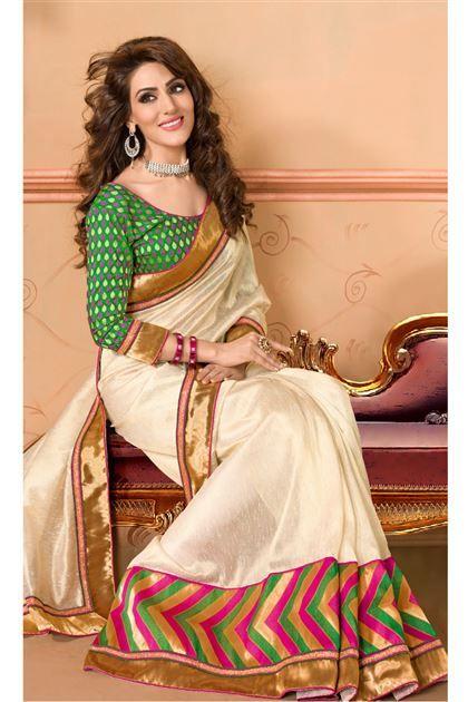A lovely Cotton silk saree to drape around for INR 3995.