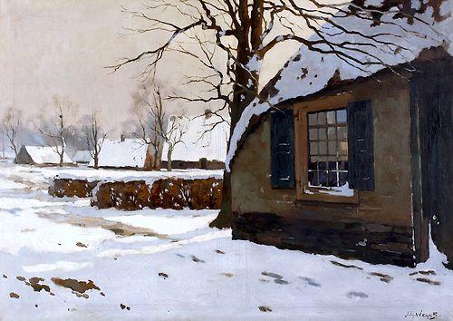 Jan Harm Weijns (1864-1945) Winter te Hattem