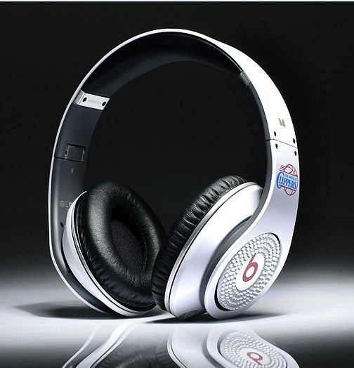 Beats By Dr.Dre Studio White Los Angeles Clippers Diamond Headphones