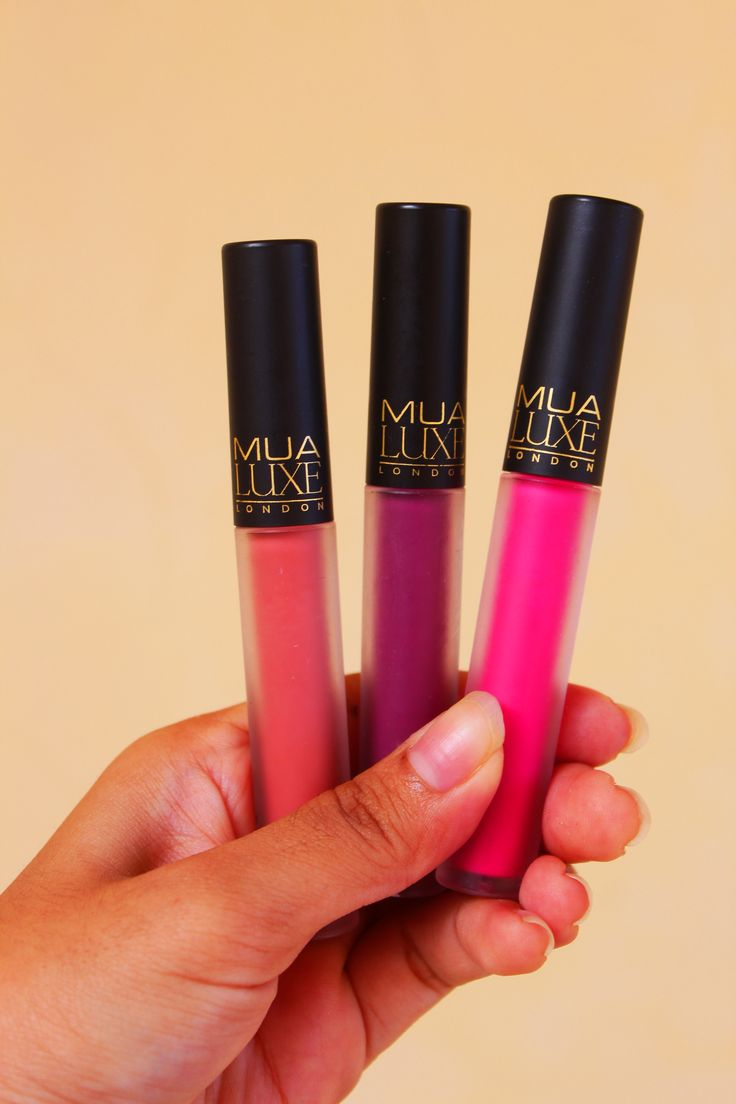 Three Shades of MUA Luxe Velvet Lip Lacquer  Halcyon, Kooky and Criminal