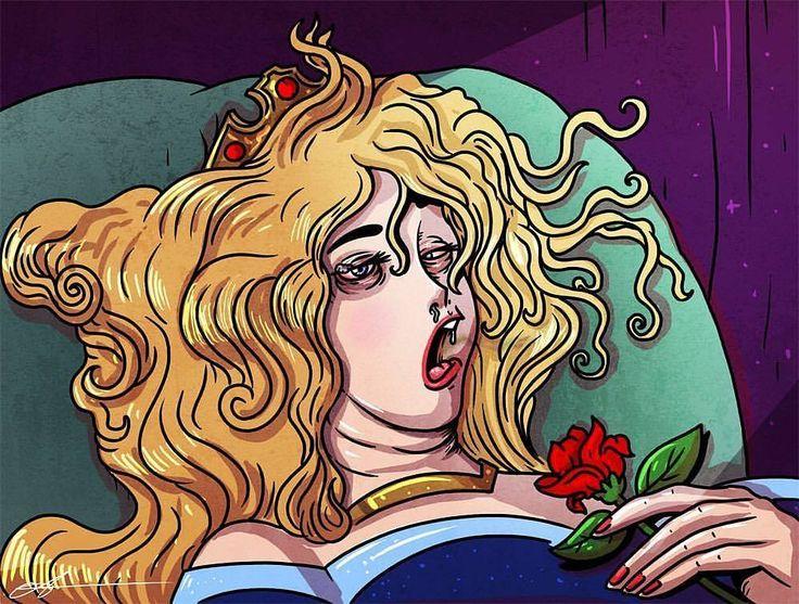 Buenos días princesas!   @alexmdc  #pelaeldiente  #comic #caricatura #viñetas #graphicdesign #funny #art #ilustración #dibujos #humor #artista #creatividad #illustrator #painting #positivo #artowork #draw #diseño #doodle #cartoon #graphicdesign #sonrisa