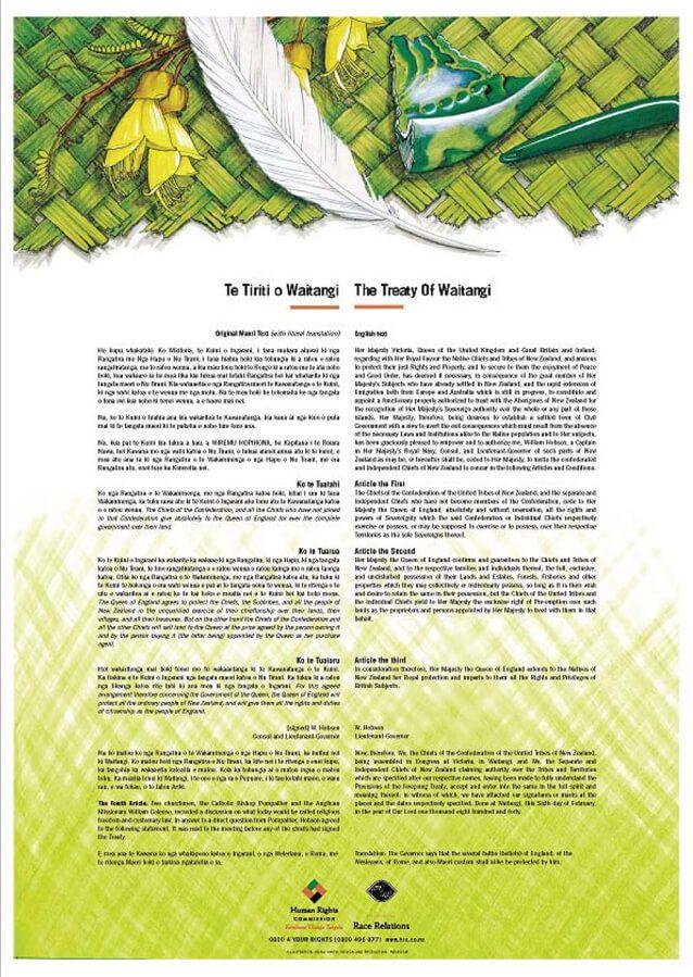 Treaty of waitangi Poster