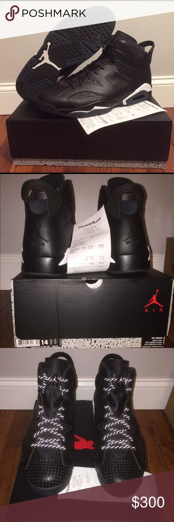 "Jordan retro 6 ""black cat"" Brand new. Ds. Never worn or tried on. Size 14 Jordan Shoes Sneakers"