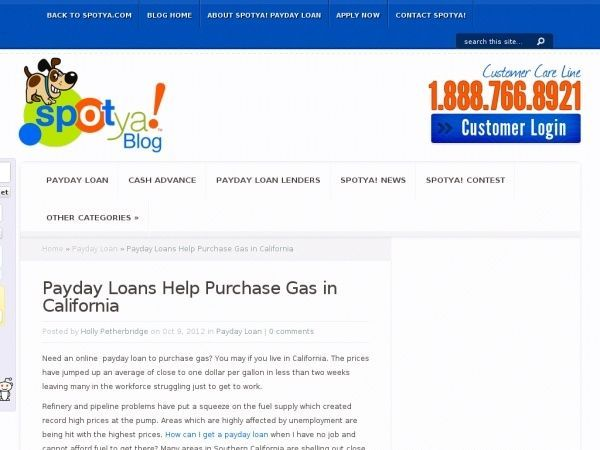 Need an online  payday loan to purchase gas? You may if you live in California.