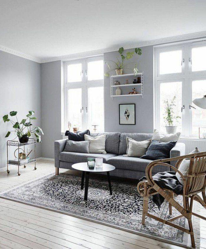 17 meilleures id es propos de canap s gris fonc sur pinterest canap som - Deco salon moderne gris ...