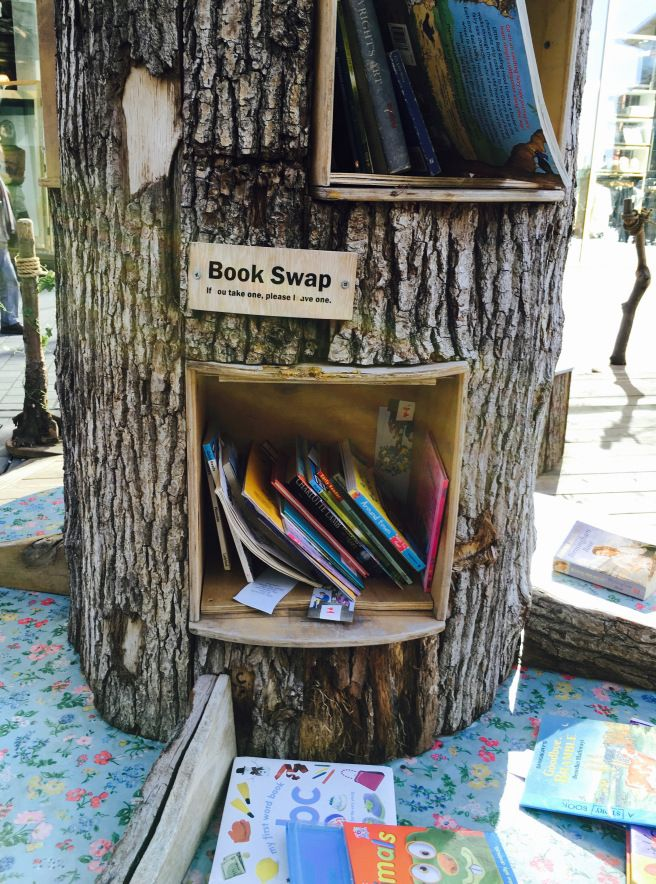 Harrogate Mama,Trip to Liverpool, Book Swap in the centre of the city - gorgeous idea