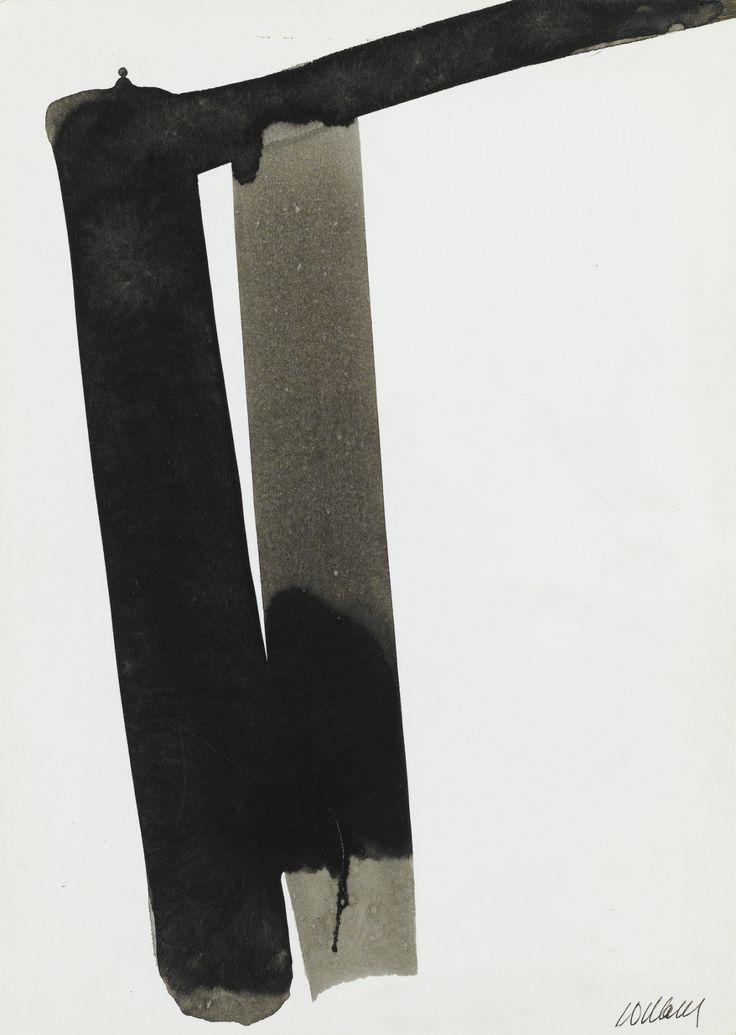 PIERRE SOULAGES ENCRE SUR PAPIER, 32 X 22,5 CM, 1975