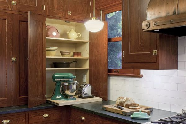 Kitchens | Craftsman Design & Renovation | KitchenAid mixer pull out shelf