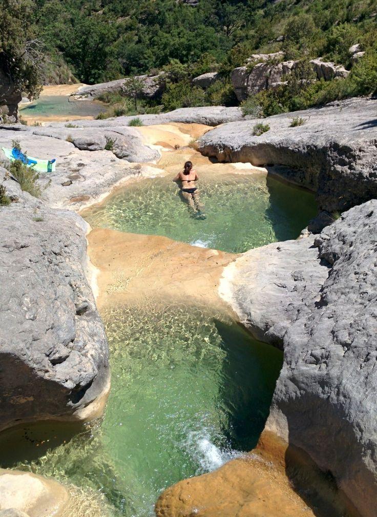 Pozas del Barranco de Ascaso. Boltaña