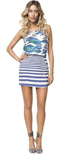 Listras estão super em alta, nesse look reforçando o estilo navy, que é trend do verão!