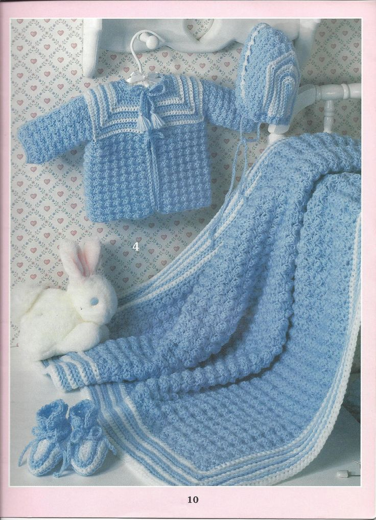 Beautiful Baby Layettes Leisure Arts 3136 by KnitKnacksCreations