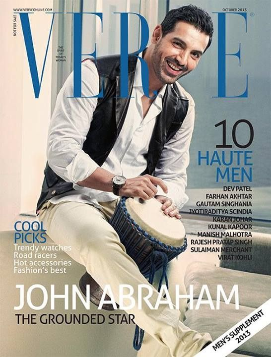 John Abraham on The Cover of Verve - October 2013.