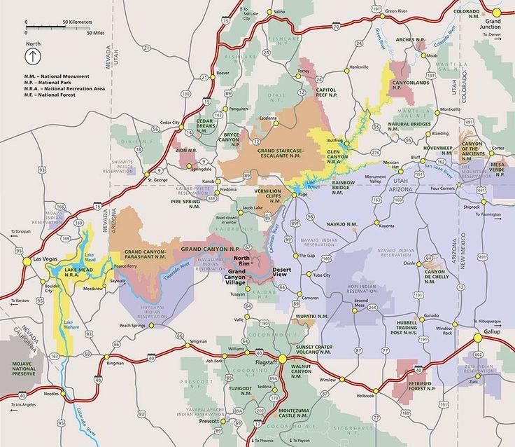 Best 25 Grand Canyon Map Ideas On Pinterest
