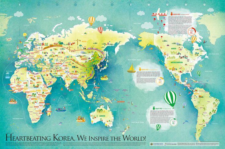 통일씨앗 세계지도 - 그래픽 디자인 · 일러스트레이션, 그래픽 디자인, 일러스트레이션, 그래픽 디자인, 일러스트레이션