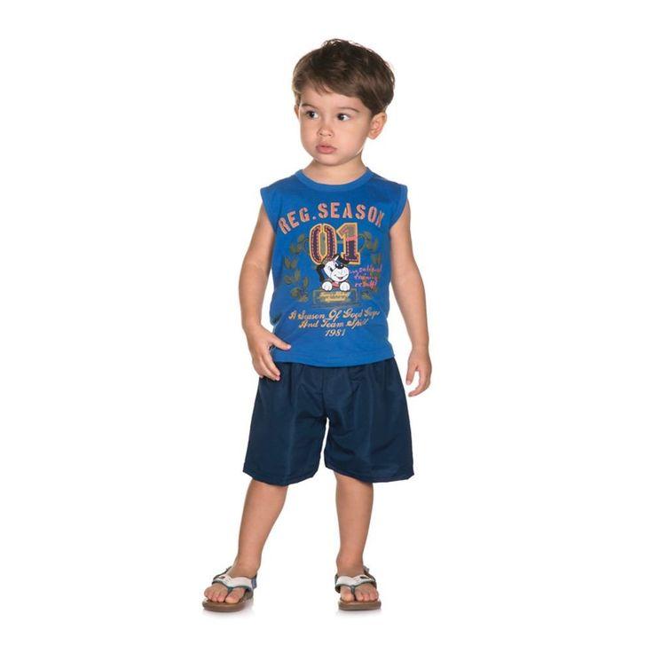 Conjunto Infantil de Verão para Menino com Camiseta Machão Dog