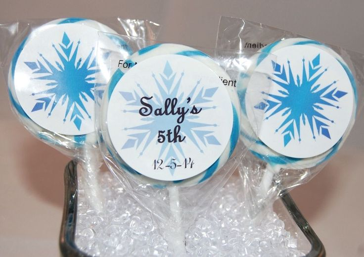 24 Snowflakes Personalized Party Favor Labels Snowflake Frozen Stickers Glossy | eBay