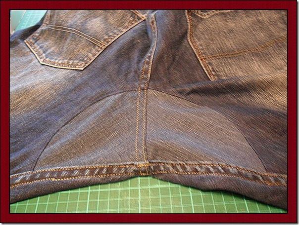 Reforma: Rasgos no gancho da calça jeans | Clubinho da Costura . Repair trousers pants sewing tutorial bottoms
