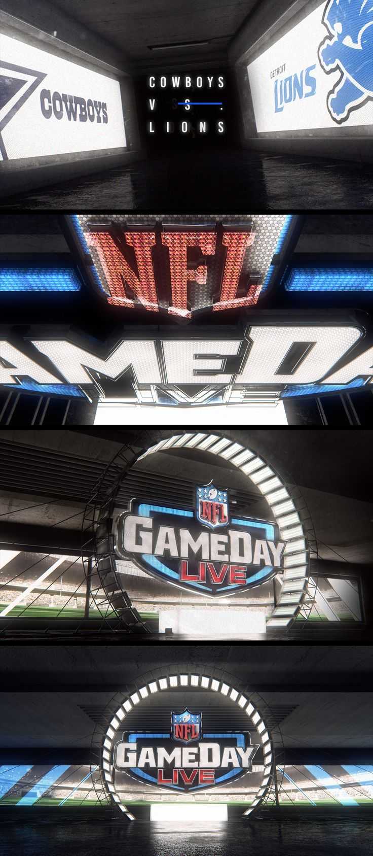 Design and Animation for Gameday rebrand pitch