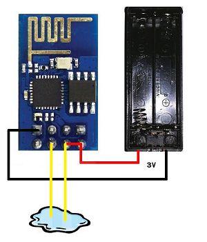 WiFi water detector via Twitter wiring diagram