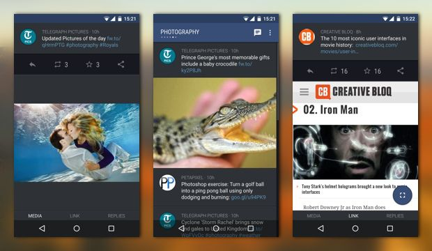 Great new #materialdesign #android app for twitter