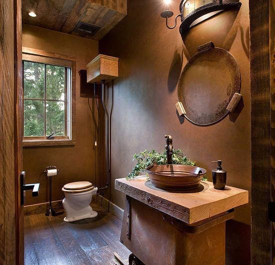 Les 25 meilleures idées de la catégorie Salle de bain marron foncé ...
