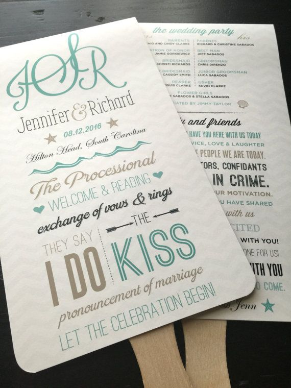 Best 25+ Beach wedding programs ideas on Pinterest | Wedding arch ...