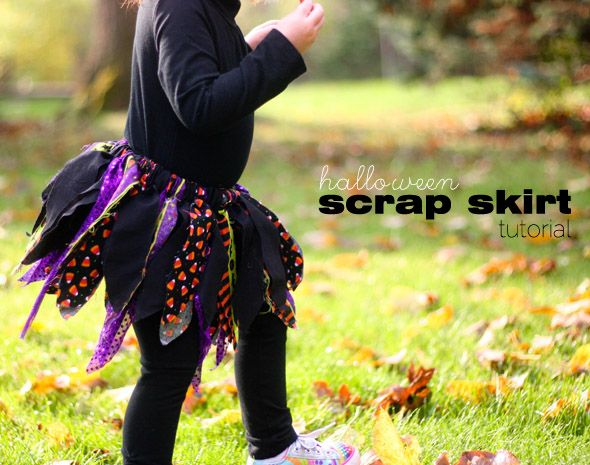 fast tutorial on how to make the fabric scrap skirt