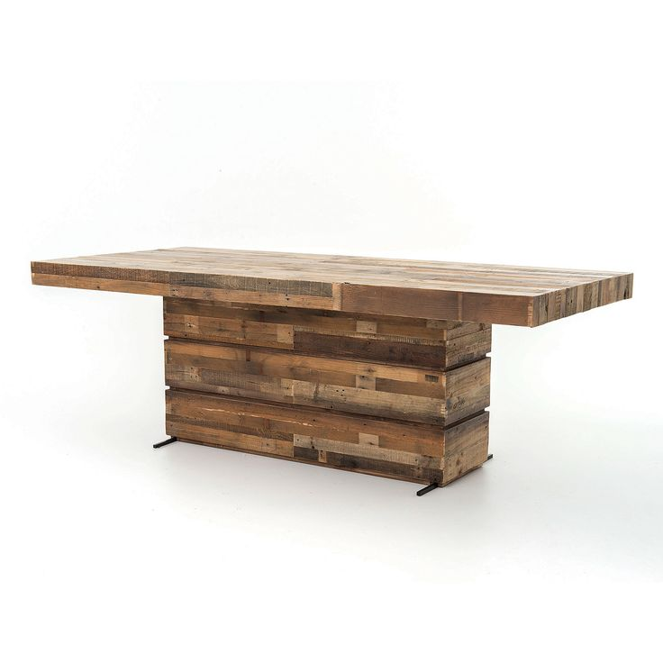 Best Dining Tables Images On Pinterest Dining Tables Woods - Solid reclaimed wood dining table