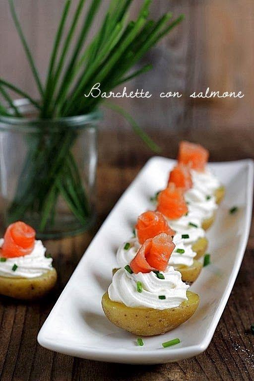 Barchette con salmone