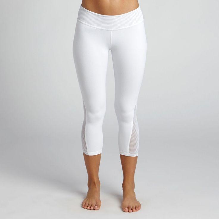 White Yoga Capris - The Else