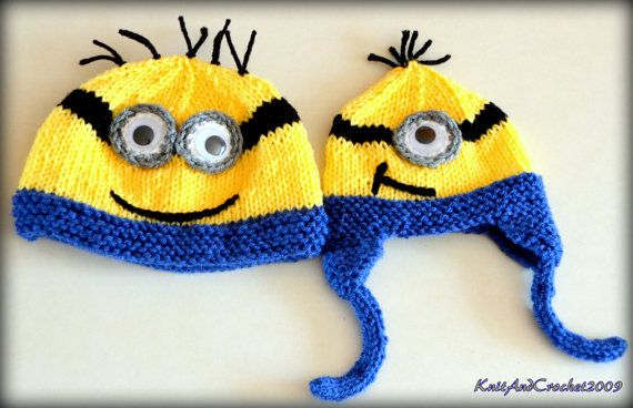 Baby Minion Hat Newborn Minion Beanie by KnitAndCrochet2009