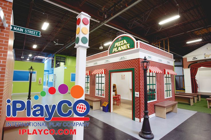 MY TOWN - pretend play village/town- great addition to a FEC or add to your family entertainment center design. #Iplayco #weBUILDfun www.iplayco.com for more information