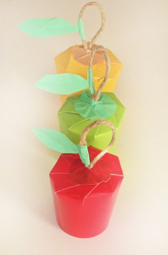 Paper Cup Apple Gift Wrap via Willowday