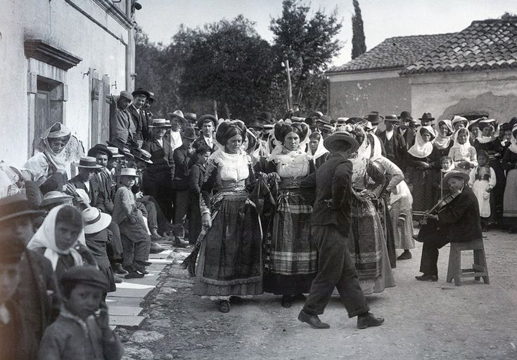Old Photo of a Wedding Procession in Kerkyra