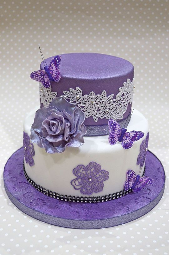Best 10 Purple Butterfly Cake Ideas On Pinterest