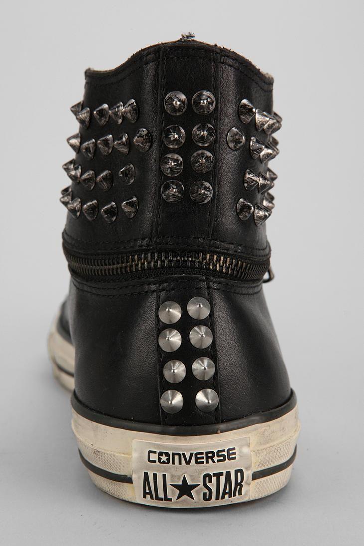 Converse Chuck Taylor All Star John Varvatos Zip-Off Studded High-Top Sneaker