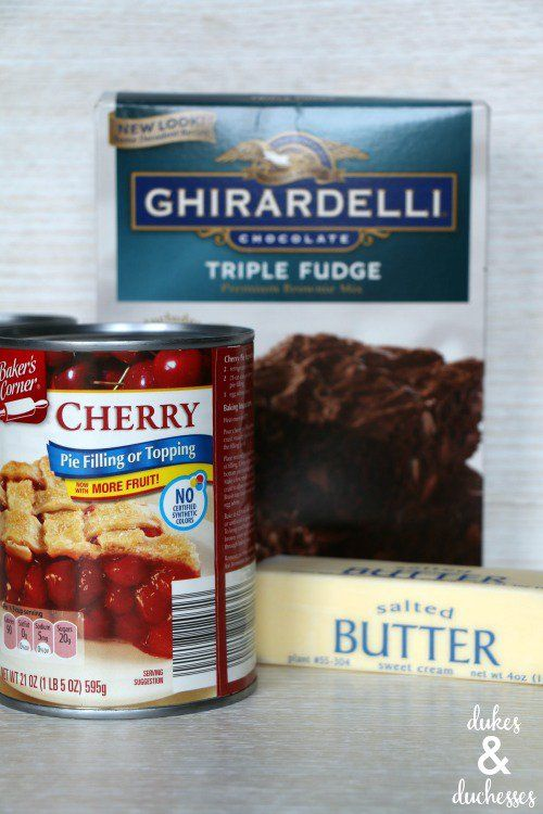 Chocolate Cherry Brownie Crockpot Dump Cake - Dukes and Duchesses