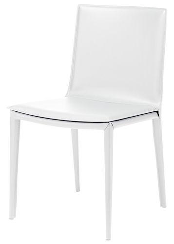 Die besten 25+ White leather dining chairs Ideen auf Pinterest - k chen amerikanischer stil