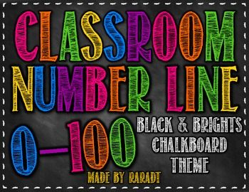 Chalkboard Theme Number Line {Black and Brights Theme}..the only thing is that it looks like you put one or two numbers up at a time