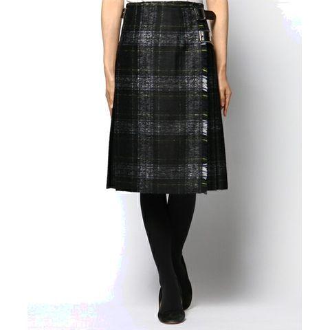 O'NEIL OF DUBLIN / シャドウチェック ラップスカート