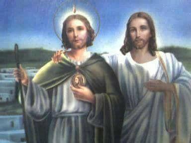 Jesus and St Judas Tadeo  Cousins