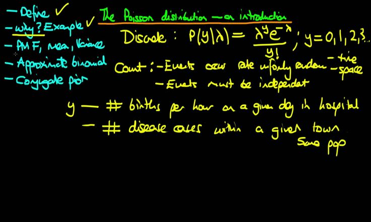 37 - The Poisson distribution - an introduction - 1