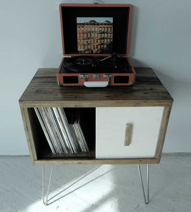Reclaimed Wood Record Cabinet | Modern Arks made you a place to store your records! This recor... | Furniture