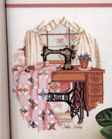Singer sewing machine cross stitch!