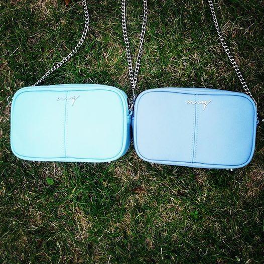 two blue mini bag