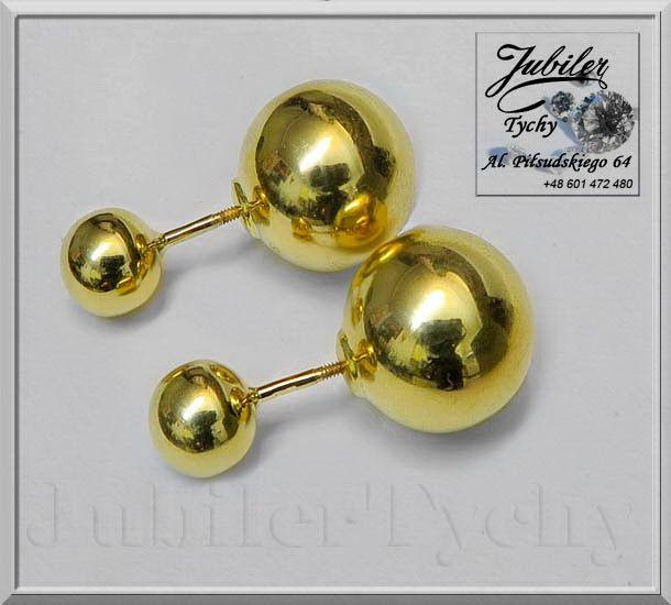 #Duże #Złote #kolczyki #podwójne #kule #kulki na #wkręty #sztyft #złoto #Au585 #Jubiler #Tychy #Gold #Jeweller #Tyski #Złotnik #jubilertychy #złota #biżuteria #wyroby #złote #kuleczki #Pracownia #Złotnicza w #Tychach #Promocje : ➡ https://jubilertychy.pl/promocje 💎