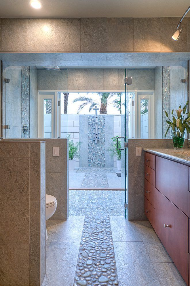 indoor river bathroom contemporary with pebbles tile contemporary mosaic tiles