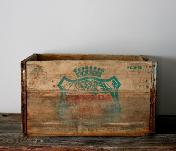 Canada Dry Wooden Crate....the best ginger ale ever!